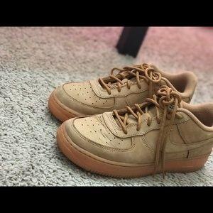 Wheat Nike Air Force 1's